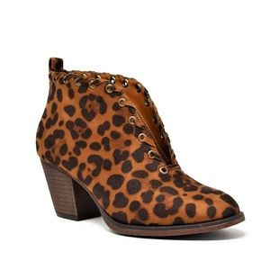 Shoes - Leopard Print Bootie